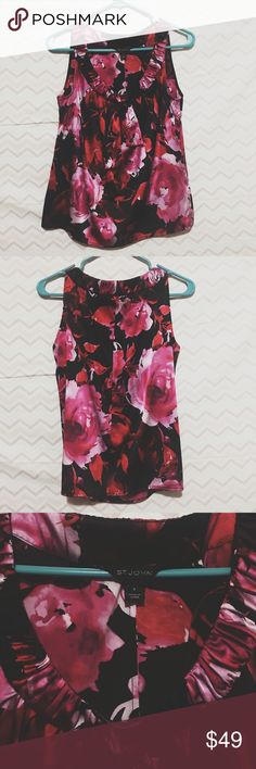 St. John silk floral tank Gorgeous shades vibrant colors in EUC! 95% spandex! Size small! Make an offer I always accept or counter! St. John Tops Blouses