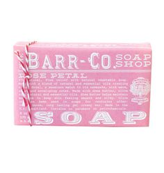 Barr-Co. Soap, Rose Petal 98% Natural--Weird that this inspires me, but I love the label design on this soap.