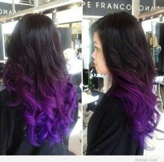 Purple at bottom starting at top, fading into lilac, streaks carrying from top slightly to blend