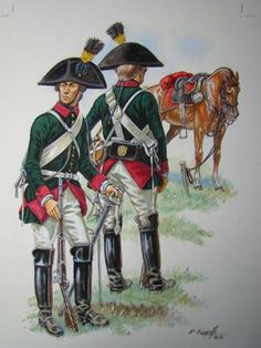 Austria; Chevau-légers de Latour, Trooper, c.1795. A Walloon Regiment in Austrian service. By P.Courcelle