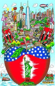 """Fazzino """"Liberty Stands in the Big Apple"""" Limited Edition 3D Serigraph, Hand-Signed by Charles Fazzino....Find at BarkerAnimation.com"""