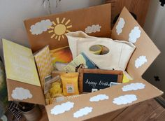 Pillow Thought: Sunshine Package. Great gift for birthday or to cheer up a friend that is going through a tough time.