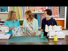 Liz & Elizabeth Evans, from Simple Simon & Co. demonstrate how to make a double gauze baby blanket in 3 simple steps.