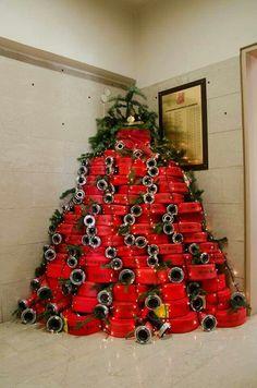 Brandweer kerstboom