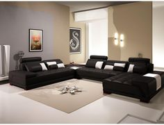 IG3030 Modern Leather Sectional Sofa W / Ottoman   Modern Sectional Sofa,  Modern Leather Sectional · Möbel Fürs WohnzimmerBeige ...