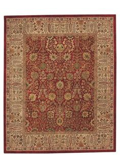 Capel Rugs Forest Park Persian Cedars Red Tufted Wool Rug CA9292500