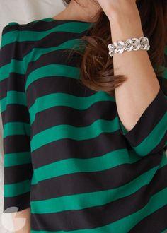 woven chain bracelet - a