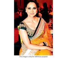 Bollywood Style Lara Dutta Net Saree in Orange and Green color, can find Bollywood and more on our website. Bollywood Saree, Bollywood Fashion, Bollywood Actress, Velvet Saree, Lara Dutta, Net Saree, Indian Outfits, Indian Clothes, Celebs