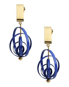 Blue & gold earrings.