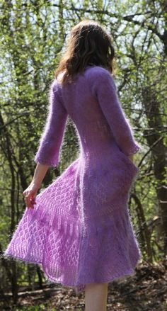 Mohair handknitted lace dress by MarshaHall on Etsy, $150.00