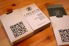 Black and white qr code business card clean and simple black and linchpin qr code business card colourmoves