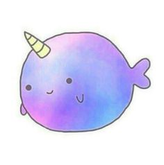 Most popular tags for this image include unicorn cute - Cute narwhal wallpaper ...