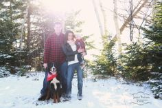 Family session. Cold snowy December day! Pictou, Nova Scotia.