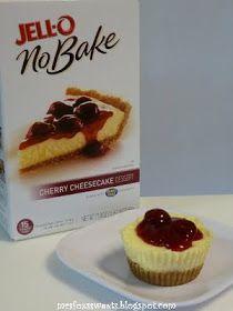 Ms. Fox's Sweets: Jell-o No-Bake Mini Cherry Cheesecakes