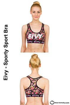Ready for action - with the Sporty Sport Bra by Eivy! The Sporty Sport Bra by Eivy features a racerback construction and supportive mesh inside for moisture wicking and stability. The elastic woven band and sublimation print make you feel most comfy. Now you are ready for action! | #lyoness