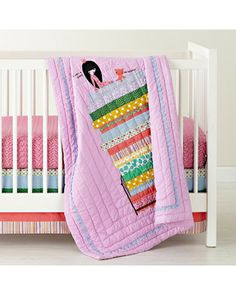 This fairytale-inspired Princess and the Pea crib blanket would make one sweet addition to Baby's #nursery. Click above to buy one!