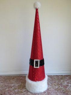 Decorative Paper Mache Christmas Tree Cone by EnchantedRoseStudio ...