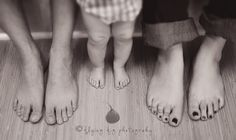 toddler feet in middle