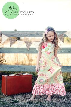 Childrens Clothing  Girls  Spring Maxi Dress  Sizes by CoralBelles, $52.00