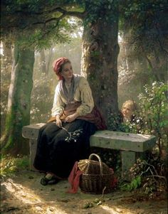 """""""When you do things from your soul, you feel a river moving in you, a joy."""" ~ Rumi  Artist~Carl von Bergen (1853 – 1933, German)"""
