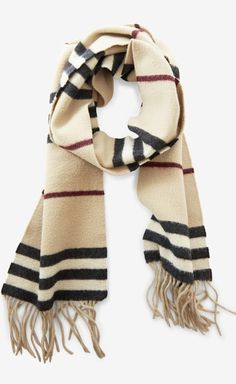 Burberry London Tan, Black And Multicolor Scarf//
