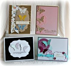 Stampin Up's Butterfly Punch -- ideas for Class Cards