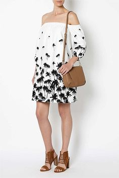 Off Shoulder Print Dress #WITCHERYSTYLE loving the bold print for summer