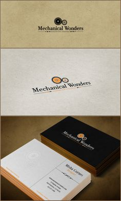 Mechanical Wonders logo  business card by Andrei Cosma