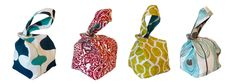 "Binkwaffle bags: super cute ""Japanese knot""-style bags. I'd love to reverse engineer one of these."