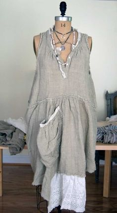 Magnolia Pearl Handwoven European Linen Farm Dress $348 — Society Hill Designs