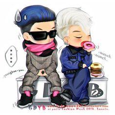 G-Dragon & Taeyang #bigbang #paris #fashion