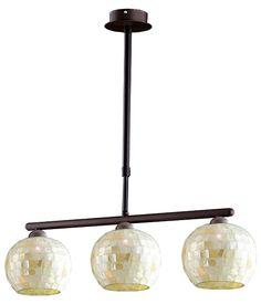 Lámpara de techo de color marrón, con casquillo E27 (bombilla no incluida), de tres luces y una potencia máxima de 40 W. Ideal para iluminar salones y comedores. Está...