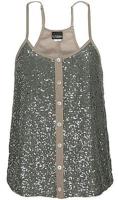 Sequin Tank top :) would make so many cute outfits! Look Fashion, Fashion Outfits, Womens Fashion, Mode Style, Style Me, Do It Yourself Fashion, Sequin Tank Tops, Sequin Top, Sequin Shirt