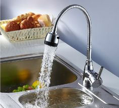 cheap and cheerful Modern Kitchen Sink Mixer Basin Spray Tap Chrome Swivel Mixer Faucet Tap UK in Home, Furniture & DIY, Kitchen Plumbing & Fittings, Kitchen Taps Modern Kitchen Sinks, Kitchen Sink Taps, Sink Mixer Taps, Kitchen Fixtures, Bathroom Faucets, Brass Kitchen, Diy Kitchen, Blocked Kitchen Sink, Blocked Sink