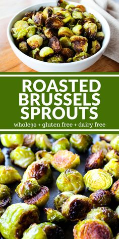 Roasted Brussels Sprouts are addictive! A little crispy, a little tender, and really really good!