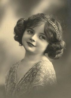 Antique & vintage photograpic painted and tinted postcards of sweet darling children free clip art
