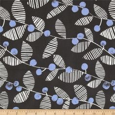 Designed by Lotta Jansdotter for Windham Fabrics, this fabric is perfect for quilting, apparel and home decor accents. Colors include white, periwinkle and charcoal.
