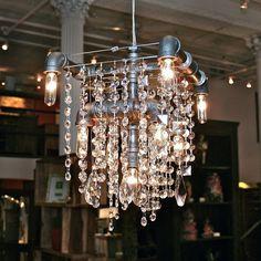 Industrial-glam chandelier | Chandeliers | Pinterest