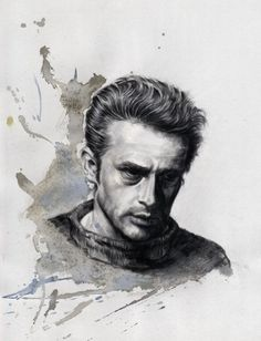 This year`s last drawing!.....James Dean, portrait drawing by; Ole M Hedeager, www.unikart.dk... HAPPY NEW YEAR!!!