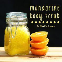 A Birds Leap: DIY Summery Mandarine Body Scrub