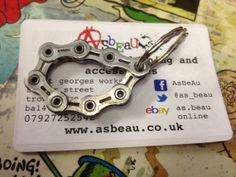 Perfect gift for the cycling enthusiast who thinks they have everything! Actual item received may differ slightly from picture but will still be a genuine Shimano chain. Bottle Opener, Upcycle, Cycling, Buy And Sell, Chain, School, Gifts, Handmade, Stuff To Buy