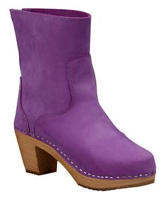Look what I found on #zulily! Purple Vasa Leather Clog Boot - Women by Cape Clogs #zulilyfinds