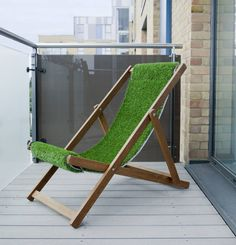A prestige traditional deckchair with an artificial grass sling. Suitable for all ages, the Lawnchair is portable and easy to store. Perfect for brightening up any balcony, patio, courtyard or rooftop. It could attend a BBQ, watch a game of polo, or enjoy an outdoor gig.