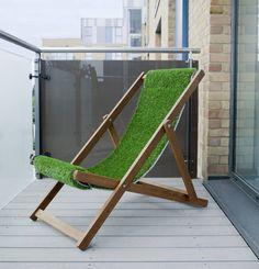 artificial grass deckchair by grassrootz unlimited | notonthehighstreet.com