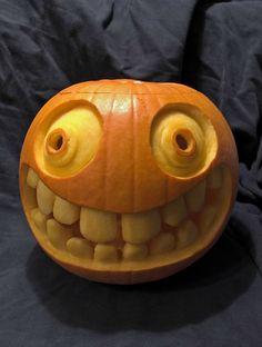 Image detail for Creative Ideas for Carving your Pumpkin into a Jack-o-Lantern- even though Halloween is __ months away Halloween Pumpkin Designs, Spooky Pumpkin, Pumpkin Art, Cute Pumpkin, Halloween Pumpkins, Halloween Crafts, Halloween Decorations, Pumpkin Painting, Pumpkin Ideas