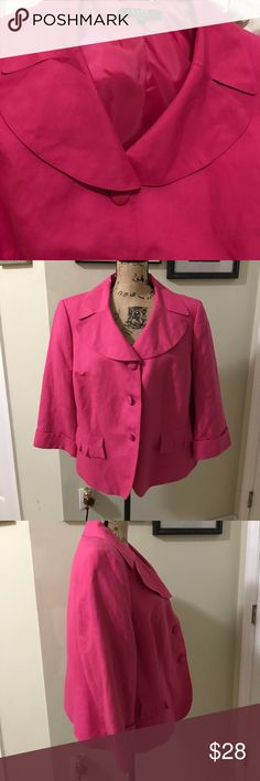 Alex/ marie blazer Beautiful blazer in adorable fushia color. Worn once in excellent condition Alex Marie Jackets & Coats Blazers