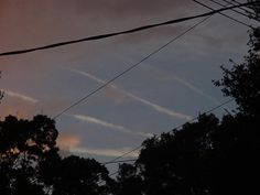 Lines over Tampa FL