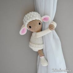 Crochet Bobble, Crochet Sheep, Bobble Stitch, Single Crochet Stitch, Crochet Hooks, Free Crochet, Girl Curtains, Magic Ring Crochet, Knitted Stuffed Animals