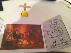 """Κάρτα """"κρυφό σχολειό"""" -www.kinderella.gr Greek Alphabet, 25 March, Sunday School, Kindergarten, Preschool, Arts And Crafts, Education, Learning, Kids"""