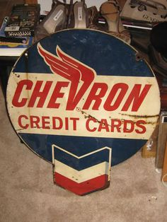Chevron Credit Cards sign